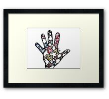 Puzzle Hand Framed Print