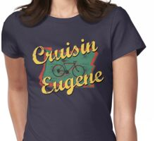 Bike Cycling Bicycle Eugene Oregon Womens Fitted T-Shirt