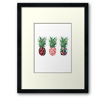 pineapple pine apple pineapple Framed Print