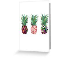 pineapple pine apple pineapple Greeting Card