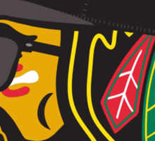 Hawks Playoff Beard Sticker