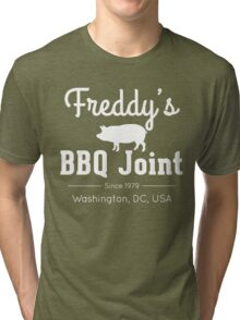 Freddy's BBQ Joint (White) Tri-blend T-Shirt