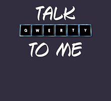 Talk Qwerty to Me Mens V-Neck T-Shirt