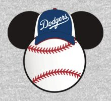 Los Angeles Dodgers Mickey Mouse baseball by sweetsisters