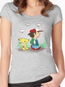 Pokemon Peanuts Women's Fitted Scoop T-Shirt