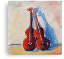 Twin Violins Canvas Print