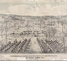 Civil War Maps 1924 Winter quarters built by the rebels now occupied by the 67th reg PV 3d Brig 3d Div 3d Corps AP near Brandy Station Va by wetdryvac