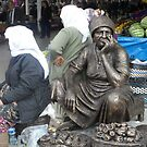 Mugla Market Traders and Honorory Statues by taiche