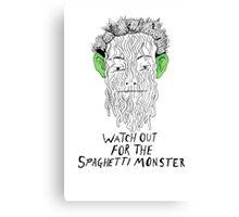 True Detective - Spaghetti Monster Canvas Print