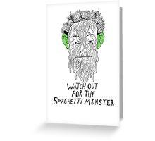 True Detective - Spaghetti Monster Greeting Card