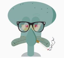 Hipster Squidward Kids Clothes