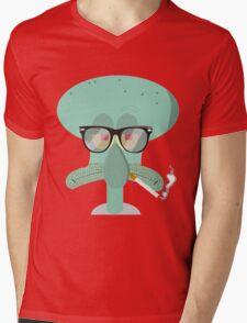 Hipster Squidward Mens V-Neck T-Shirt