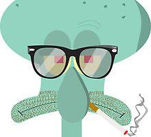 Hipster Squidward by nicksala
