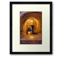 Gold and Chains Framed Print