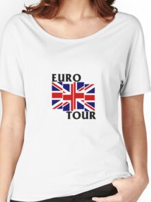 Black Flag European Tour  Women's Relaxed Fit T-Shirt