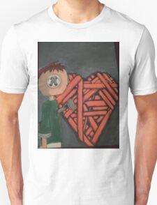knitted heart Unisex T-Shirt