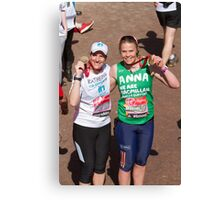 Katherine Grainger and Anna Watkins at the London Marathon Canvas Print
