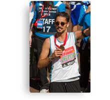 Hugo Taylor with his London Marathon medal Canvas Print