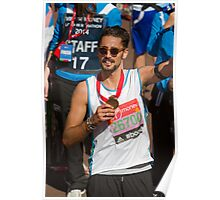 Hugo Taylor with his London Marathon medal Poster