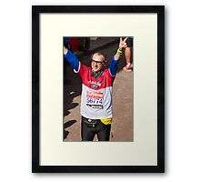 Alberto Zaliani after finishing the London Marathon Framed Print