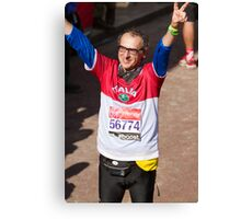 Alberto Zaliani after finishing the London Marathon Canvas Print