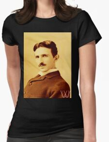 Tesla [B&W] | The Wighte Collection Womens Fitted T-Shirt