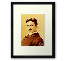 Tesla [B&W] | The Wighte Collection Framed Print