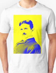 Nikola Tesla [Yellow Blue] | Wighte.com Unisex T-Shirt