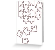 Puzzle Pieces Greeting Card
