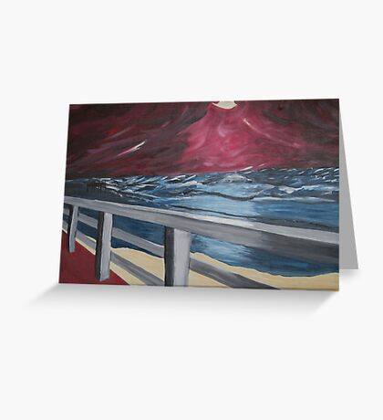 The island of Sylt after the storm Greeting Card