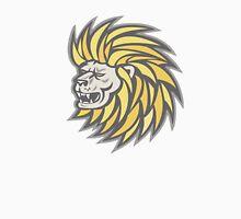 Lion Head With Flowing Mane Retro Unisex T-Shirt