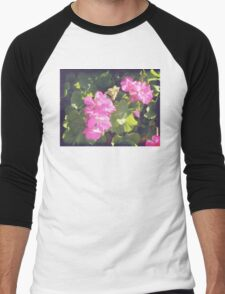 Vintage Flower Blossoms Men's Baseball ¾ T-Shirt