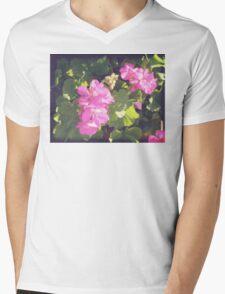 Vintage Flower Blossoms Mens V-Neck T-Shirt