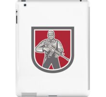 Soldier Serviceman With Assault Rifle Shield iPad Case/Skin