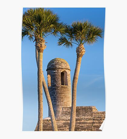 Bell Tower and Palms Poster