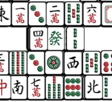 Mahjong Invader Sticker