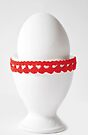 Happy Easter: White Hearts by Denise Abé