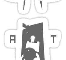 Finn Vs. The Lich (Adventure Time) (Dark Gray) Sticker