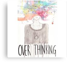 over thinking Canvas Print