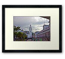 Main Square in Quito Ecuador Framed Print