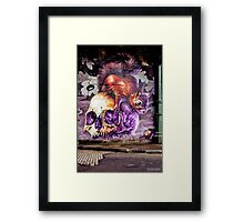 Skull n Squirrel Framed Print