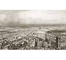 Bird's Eye View of London from Westminster Abbey Photographic Print