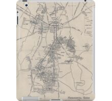 Civil War Maps 1172 Monumental guide to the Gettysburg battlefield A map showing the location of every monument marker and tablet with approaching roads and avenues iPad Case/Skin