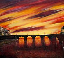 Sunset landscape (sold) by donea