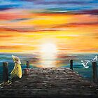 Sunrise landscape (sold) by donea