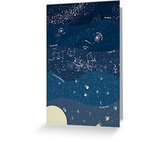 Scale of the Universe - Space Poster Greeting Card