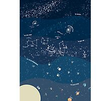 Scale of the Universe - Space Poster Photographic Print