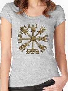 Vegvisir - Icelandic Magical Stave - Protection & Navigation  Women's Fitted Scoop T-Shirt