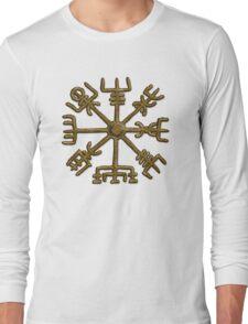Vegvisir - Icelandic Magical Stave - Protection & Navigation  Long Sleeve T-Shirt