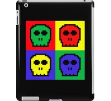 4 Color Retro 8-bit Skulls iPad Case/Skin